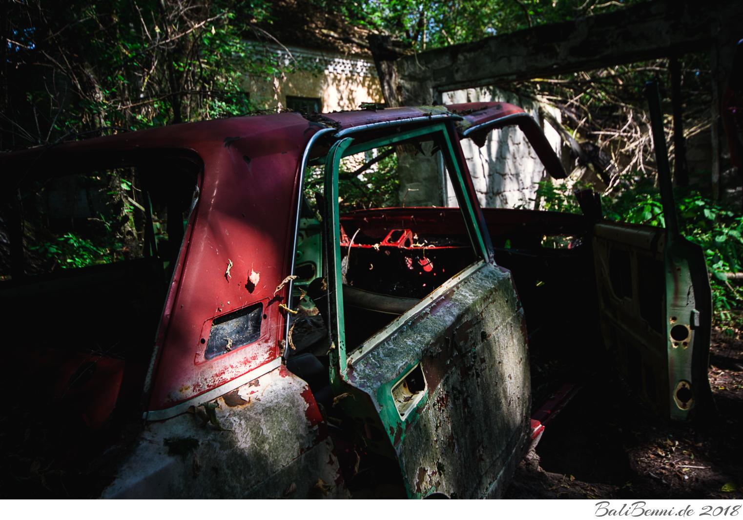 Lada WAS 2105 in der Sperrzone von Tschernobyl