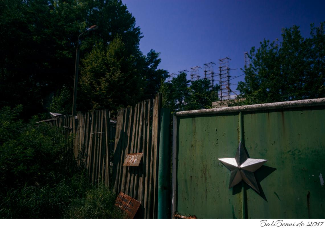 Als stromhungriger Verbraucher wurde die Späheinrichtung in direkter Nachbarschaft des Atommeilers Tschernobyl errichtet.