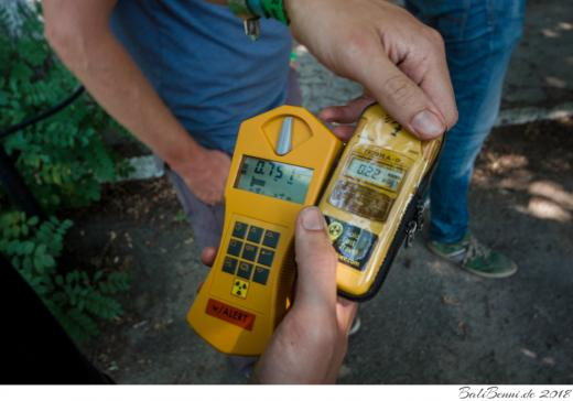 Vergleich mit einem ukrainischen Strahlenmessgerät